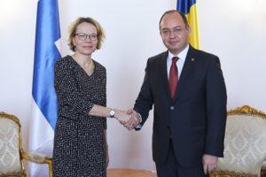 Ministrul Afacerilor Externe, Bogdan Aurescu, intalnire cu ambasadorul Finlandei, Marjut Akola